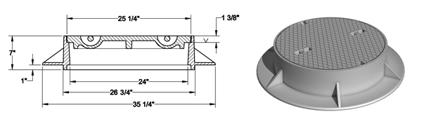 1048 Round Manhole Frames Amp Covers